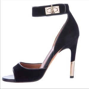 Givenchy sharklock suede heels
